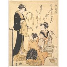 Hosoda Eishi: Two Women Seated about a Hibachi - Metropolitan Museum of Art