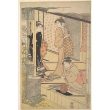 細田栄之: Domestic Scene - メトロポリタン美術館