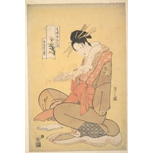 Hosoda Eishi: The Oiran Komurasaki of Kadotamaya Reading a Letter - Metropolitan Museum of Art