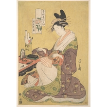 細田栄之: Portrait of Kasen of Ogiya, a Celebrated Yoshiwara Beauty - メトロポリタン美術館