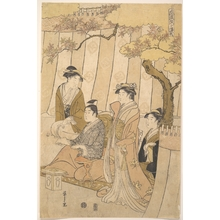 Hosoda Eishi: Prince Genji and Three Young Women - Metropolitan Museum of Art
