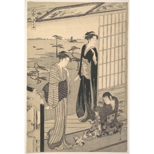 Hosoda Eishi: Episode in the Life of Prince Genji during His Exile at Suma - Metropolitan Museum of Art