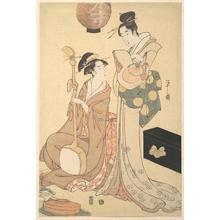 細田栄之: Two Geisha - メトロポリタン美術館