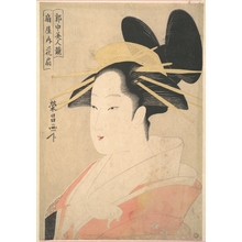 Chokosai Eisho: Large Head and Bust Portrait of the Oiran Hanaogi of Ogiya. - Metropolitan Museum of Art