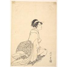 Chokosai Eisho: A Woman Kneeling - Metropolitan Museum of Art