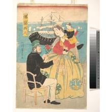 Utagawa Yoshikazu: Furansujin (Frenchman) - Metropolitan Museum of Art