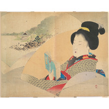 Watanabe Seitei: Beauty Looking at Shinobazu Pond - Metropolitan Museum of Art