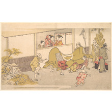 Kitagawa Utamaro: The Lion Dance - Metropolitan Museum of Art