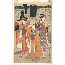 Rekisentei Eiri: Prince Genji Returning to His Palace where His Wife Awaits Him - Metropolitan Museum of Art