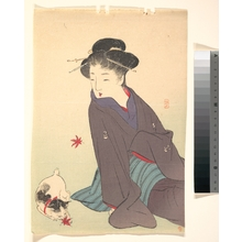Kikuchi Keigetsu: Woman with a Cat - Metropolitan Museum of Art