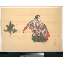 月岡耕漁: Illustration of Noh Dance Scene - メトロポリタン美術館