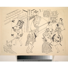 Okumura Masanobu: A Number of People in the Street Going about Various Affairs - Metropolitan Museum of Art