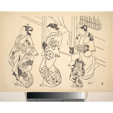 Okumura Masanobu: Three Courtesans and a Kamuro Strolling in the Street - Metropolitan Museum of Art