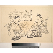 Okumura Masanobu: Two Women Seated in a Parlor - Metropolitan Museum of Art