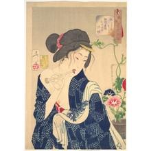 Tsukioka Yoshitoshi: Waking Up: A Girl of the Kôka Era (1844–1848) - Metropolitan Museum of Art
