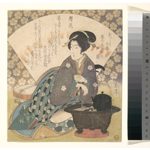 屋島岳亭: Courtesan Drinking Tea - メトロポリタン美術館