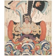 Utagawa Kunisada: Danjuro VII's Benkei as Fudo Myo-o - Metropolitan Museum of Art
