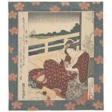 Utagawa Sadakage: Beauty Looking at Her Image in a Mirror - メトロポリタン美術館