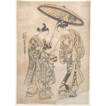 奥村政信: Two Figures - メトロポリタン美術館