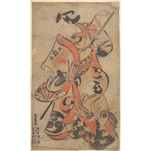 Torii Kiyomasu I: The Actor Yoshizawa Ayame as a Samurai - Metropolitan Museum of Art