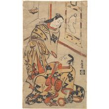 Torii Kiyomasu I: Kabuki Actors Nakamura Gentaro and Ikushima Shingoro - Metropolitan Museum of Art