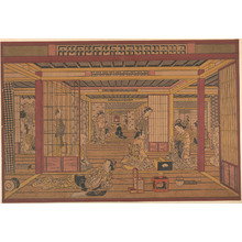 Torii Kiyotada I: An Interior View in the Yoshiwara - Metropolitan Museum of Art