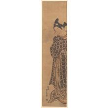 Nishimura Shigenaga: The Actor Sanogawa Ichimatsu as a Young Man Holding a Folded Letter - Metropolitan Museum of Art