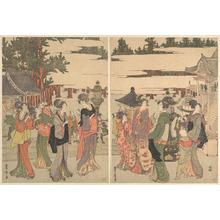 Utagawa Toyohiro: Horinouchi Myo-ho-ji Eho Mairi no Zu - Metropolitan Museum of Art