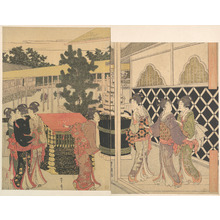 Utagawa Toyohiro: Pilgrimage to Myôhôji in Horinouchi, Edo - Metropolitan Museum of Art