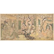 Kitagawa Utamaro: A View of the Pleasures of the Taiko and His Five Wives at Rakutô - Metropolitan Museum of Art
