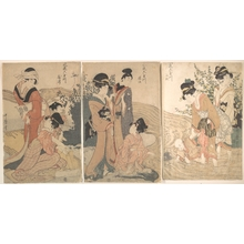Kitagawa Utamaro: Women and Children on the Banks of a Stream - Metropolitan Museum of Art