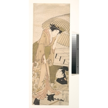 Kitagawa Utamaro: Young Lady about to Step Into a Boat in which a Young Man is Seated - Metropolitan Museum of Art