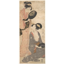 Kitagawa Utamaro: Two Ladies, Each with a Portion of a Lacquered Mirror - Metropolitan Museum of Art