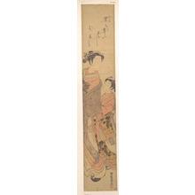 磯田湖龍齋: A Girl with an Attendant - メトロポリタン美術館