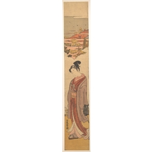 Isoda Koryusai: Young Man Strolling near the Sea - Metropolitan Museum of Art