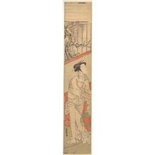 磯田湖龍齋: Girl Drying Herself after Her Bath - メトロポリタン美術館