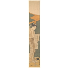 Suzuki Harunobu: Woman in Night Robe Reading a Letter - Metropolitan Museum of Art