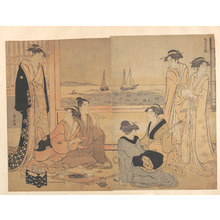 Torii Kiyonaga: A Party of Merrymakers in a Tea-house at Shinagawa - Metropolitan Museum of Art