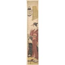 鳥居清長: Two Geisha - メトロポリタン美術館