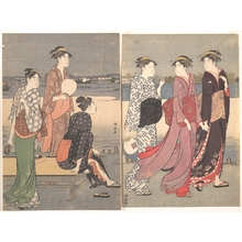 Torii Kiyonaga: Enjoying the Evening Cool on the Banks of the Sumida River - Metropolitan Museum of Art