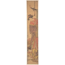 Torii Kiyonaga: Young Woman Looking over Shoulder of Another who is Writing a Letter - Metropolitan Museum of Art