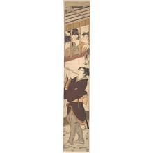 鳥居清長: A New Year's Scene - メトロポリタン美術館