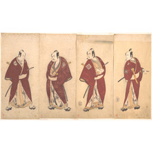 勝川春章: Four of the Five Actors Who Performed the Shosa