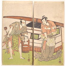 Katsukawa Shunsho: The Actor Otani Hiroji III and the Actor Onoe Kikugoro I - Metropolitan Museum of Art