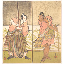 Katsukawa Shunsho: The Actor Sakata Hangoro II and the Actor Matsumoto Koshiro IV - Metropolitan Museum of Art