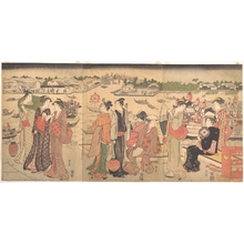 Katsukawa Shunzan: Festival by the Sumida River - Metropolitan Museum of Art