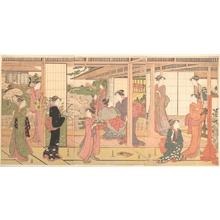 勝川春潮: Mansion Opening onto a Garden - メトロポリタン美術館