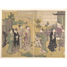 細田栄之: Fuji no Uraha - メトロポリタン美術館