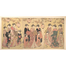 Hosoda Eishi: The Yoshiwara Parade in Autumn - Metropolitan Museum of Art