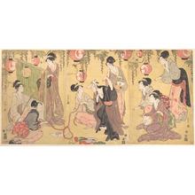 細田栄之: A Parody of Yuranosuke in the Pleasure Quarters - メトロポリタン美術館